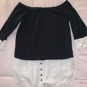 Maurices off the shoulder business blouse